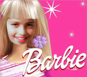 Fotoefectos infantiles Barbie.