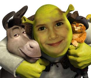 Shrek, Asno y Gato con botas
