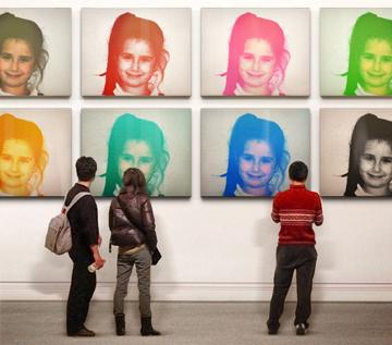 Efectos para fotos facebook Andy Warhol