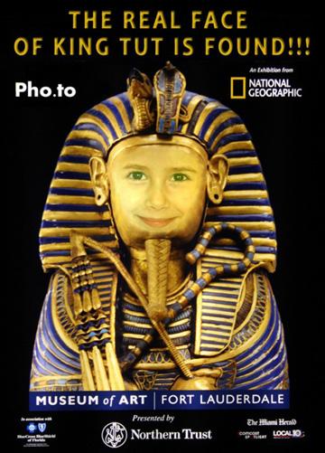 Fotomontaje de Egipto. Tu rostro en el del Faraón Ramsés.