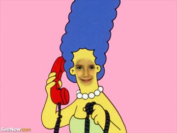 Fotomontaje de los Simpsons