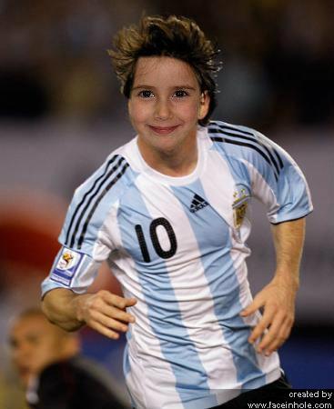 Fotomontaje Leo Messi. Fotoefectos de Deportistas