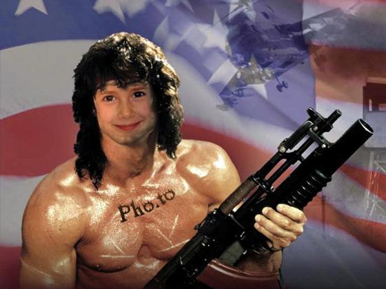Fotomontaje de Rambo