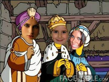 Fotomontaje de los Reyes Magos