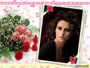 Marcos para Fotos con Rosas Rojas Gratis.