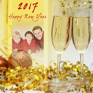 Felicitaciones de Año Nuevo.